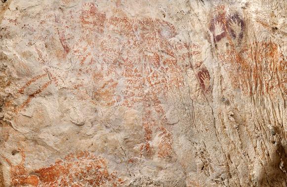 Localizan en Borneo la pintura figurativa más antigua de la humanidad