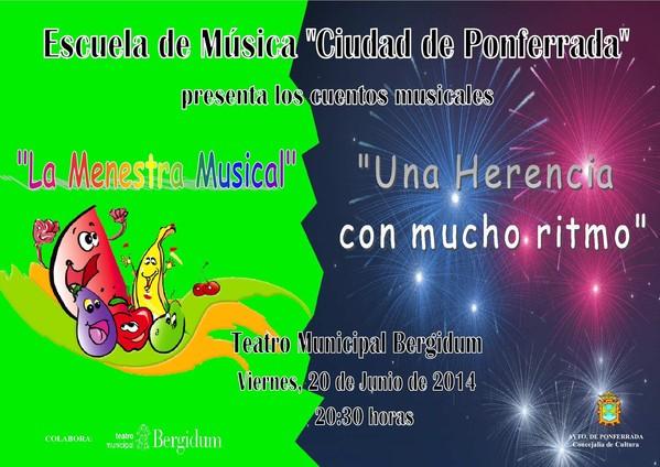 Cartel del conciertoscuela e música  Ciudad de Ponferrada